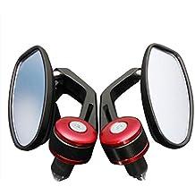 """Espejos laterales de moto - TOOGOO(R)Par de espejo trasero de manillar de motocicleta de 7/8"""" universal rojo"""