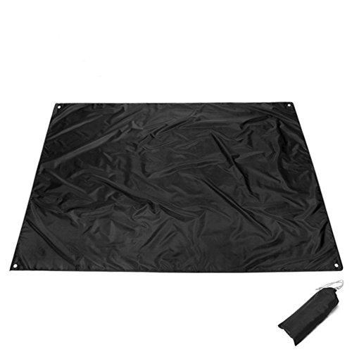 Preisvergleich Produktbild Gracelaza Camping matte Zeltmatte Footprint Bodenmatte Outdoor Camping Gear, Matte Überwurf Strand Decke Für Camping,  Picknick oder Angeln,  210x150cm (Schwarz)