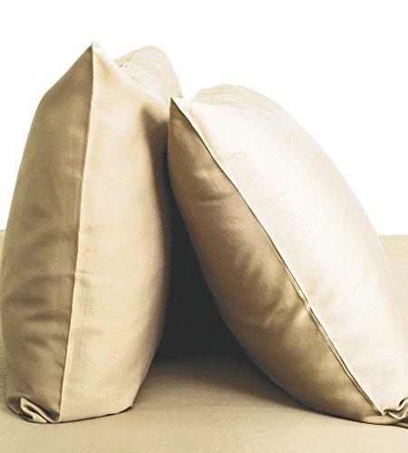 Cariloha Resort Bambus Kopfkissen von 2Stück Kissenbezüge Set-100% Viskose aus Bambus Betten (Standard, Beachwood) -