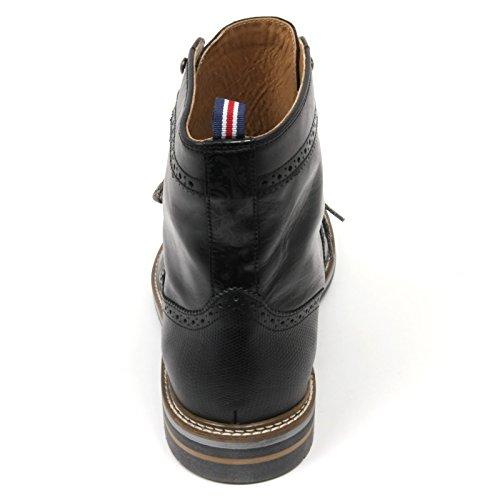 half off 8fc5a 4880b ... C2418 anfibio uomo BRIMARTS scarpa inglese nero fondo gomma boot shoe  man Nero