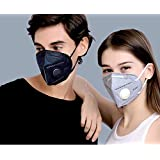 Xtore Advanced Inbuilt 5 Layer Filter Premium Quality Anti Pollution Mask (Black, Grey)