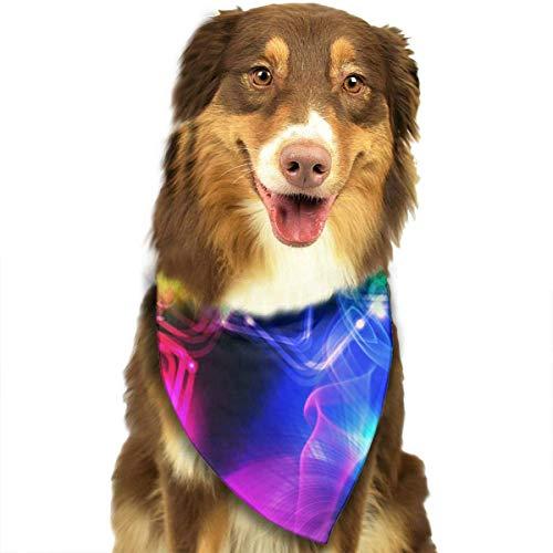 Rghkjlp Dogs Bandana Collars Abstract Aurora Pets Triangle Neckerchief Puppy Bibs Scarfs Cats Scarfs Towel