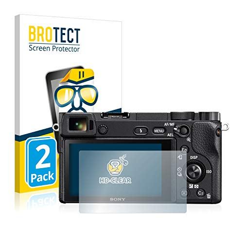 BROTECT Schutzfolie kompatibel mit Sony Alpha 6300 (2 Stück) klare Bildschirmschutz-Folie