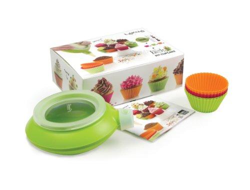 Lékué 3000004SURM017 Kit Cupcake Silicone Platine