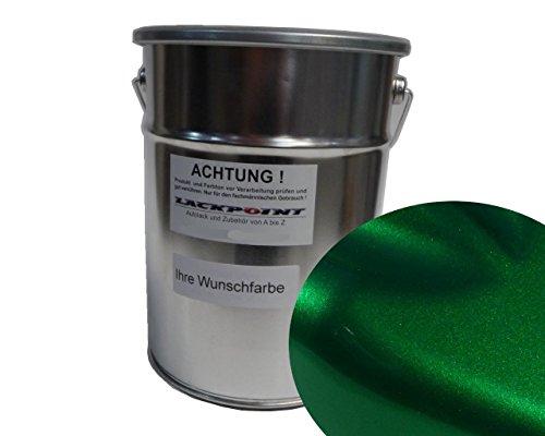 Lackpoint 1 Liter Spritzfertig Wasserbasislack Candy Grün 2 Metallic Autolack -