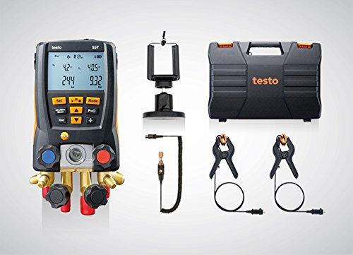 testo 557 Set 0563 1557 - Digitale Monteurhilfe mit Bluetooth + Kleinschmidt GmbH Magnet-Smartphonehalter -