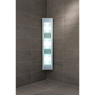 ARTVION Infrarotstrahler für Dusche, Sunshower Combi White Aufputzmontage mit UV Licht (UV:3x400W) und ABC IR-Strahler (IR:4x500W)