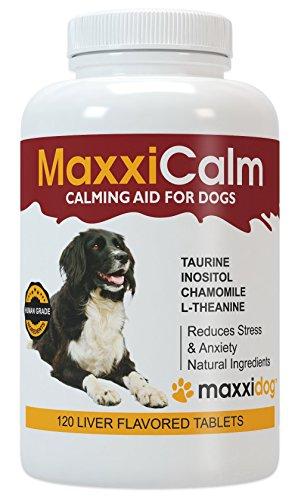 Ergänzung Behandeln (MaxxiCalm, Beruhigungshilfe für Hunde, 120 Tabletten mit Lebergeschmack)