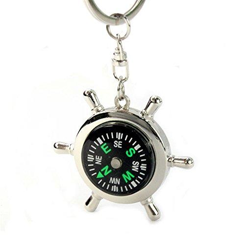 2018 Neueste Kompass Schlüsselanhänger ❤️ sunnymi Keychain Ring-Ketten-Geschenk, Beweglicher Legierungs-silberner Seekompass (Silber) -