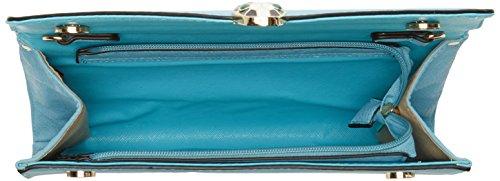 Swanky Swans - Bali Snakehead Leather Clutch, Pochette da giorno Donna Blu (Blue)