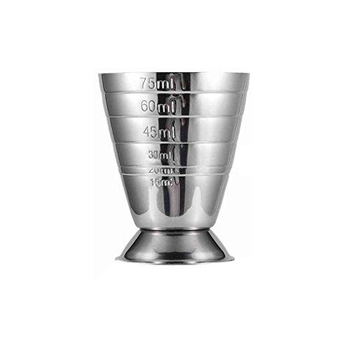 Fangfeen 75ML Edelstahl-Skala Jigger Cocktail-Wein-Getränk Shaker Pub Bar Koch Werkzeuge -