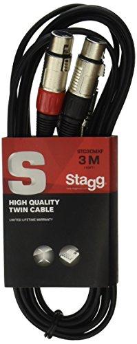 Stagg STC3CMXF S Serie Audiokabel Twinkabel - 2x Chinch Männlich - 2x XLR Weiblich 3m (Stereo-anlage Für Den Club)