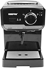 Geepas Powder Espresso Machine,Black - Gcm6108