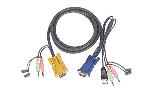 Iogear Usb-maus (IOGEAR G2L5301U USB-Datenkabel, Tastatur, Maus, Video, Audiokabel, 91 cm)