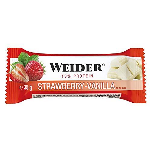 Weider - BodyShaper Protein Plus Energy - Riegel 24er Box Vanille-Erdbeer