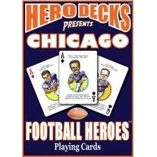 Parody Productions Chicago Bears Football Heroes Playing Cards