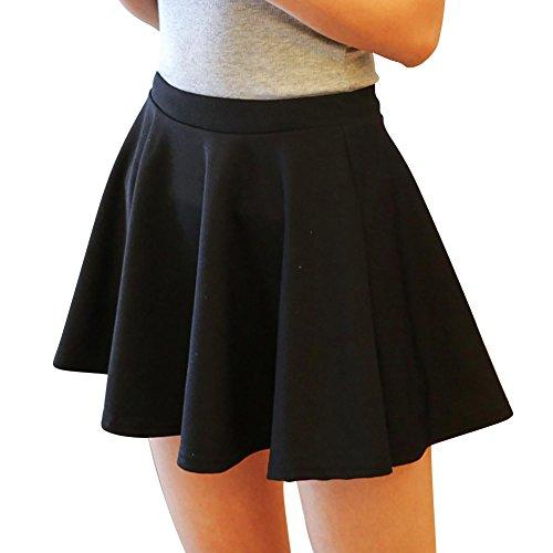 Xiaokesong® Mini Damen Rock Faltenröcke Sommerkleid für 4 Seasons Mordern und Elegant