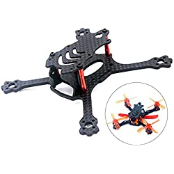 Crazepony-UK X 110 FPV Drone Frame Carbon Fiber with 3mm Arms, Freestyle X Frame Quadcopter Kit for 1104 1105 1106 1306 Brushless Motor (Suitable for 2'' Propeller)