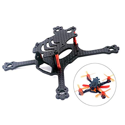 Crazepony-UK X 110 FPV Drone Frame Carbon Fiber with 3mm Arms, Freestyle X Frame Quadcopter Kit for 1104 1105 1106 1306 Brushless Motor (Suitable for 2