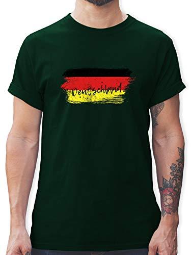 Handball WM 2019 - Deutschland Vintage - XXL - Dunkelgrün - L190 - Tshirt Herren und Männer T-Shirts