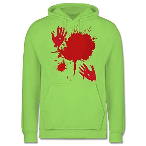 Scream Blutiges Kostüm - Shirtracer Halloween - Blutig Fasching Kostüm - S - Limonengrün - JH001 - Herren Hoodie