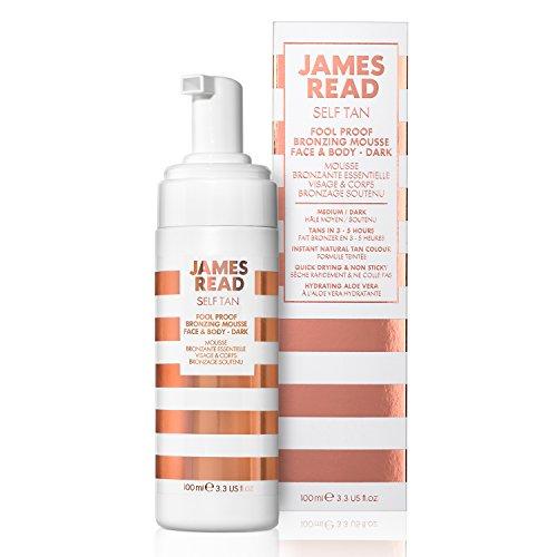 JAMES READ Einfach zu verwendende Gesichts- und Körperbräunungscreme - Dunkel 100 ml, schnell trocknend, ideal für Erstanwender, Bräunung dauert 3 bis 5 Stunden, Bräunung dauert bis zu 7 Tage