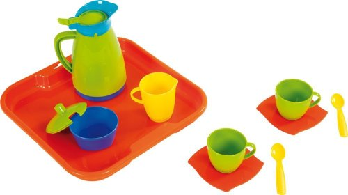 Wader 23010 - Kaffeeservice für 2 Kinder auf Tablett