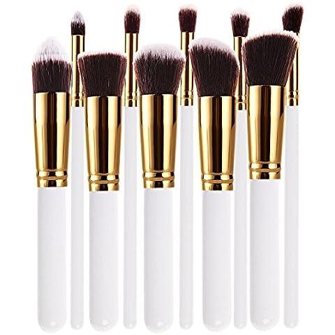 De uso profesional Chinatera 10 piezas Juego de llave de colores cósmicos y estilos de maquillaje de herramienta para extracción de cepillos con cerdas de aroma de polvos de talco de sombra de