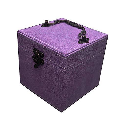 Bling Aufbewahrungsbehälter für Damenschmuck Flanell-Material Tragbare Organizer mit großer Kapazität,Purple - Große Mit Schrank Schmuck Lock