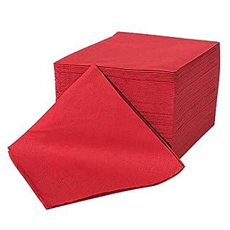 Servilletas de celulosa rojo – doble capa, 24×24 (100 piezas)