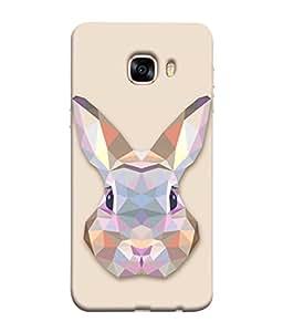 Fuson Designer Back Case Cover for Samsung Galaxy C5 SM-C5000 (love shape lines strips design)
