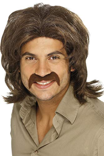 70's Retro Wig for Men - Brown
