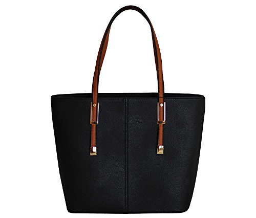 PortoVino Handtasche schwarz/gold