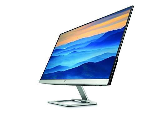 HP 27es 27 inch LCD Monitor 1920 x 1080 Pixel total HD FHD 7 ms HDMI VGA Black and Silver Monitors