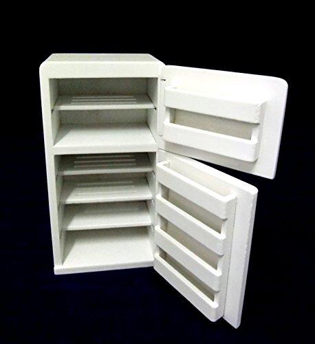 Casa Delle Bambole Miniature 1:12 Bilancia Cucina In Legno Mobili Di 1950 Bianco Frigorifero