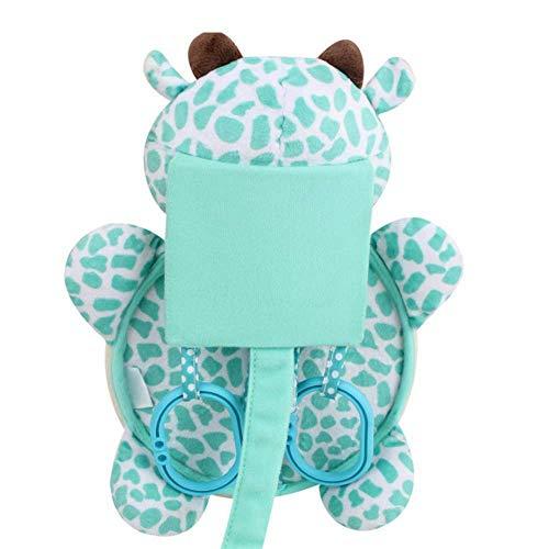 Xinfang 1 STÜCKE Baby-Plüsch Cartoon-Auto-Rückspiegel Rücksitz, Sitzbaby Spiegel Zurück Beliebte Marken, Die Förderung Des Taktile Des Babys, Visuelle Und Auditorische Entwicklung(Green)