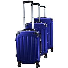 Maletín para maletas de viaje ABS Hard Protective Case EXPERIENCIA 2.0 en diferentes tamaños y colores también como un conjunto de 3 por BB Sport 4 x 360 ° Ruedas Dobles M L XL Equipaje de 3 piezas, Color:holiday blue;xs s m l xl xxl xxxl GRÖßE:L