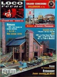 LOCO REVUE [No 639] du 01/09/2000 - RESEAUX - H0 - LES TRAINS DE MAREE BRETONS - 0.14 - UNE BONNE CUVEE - GRAND CONCOURS MILLENIUM - REFERENCE - LES TRAMWAYS D'HAGONDANGE OÇô COMMENT FAIRE ? - VILLARS - UN P.N. TYPE EST OÇô H0 - LA BLUE TIGER MEHANO OÇô H0 - LA B10C10UX ROCO - N - LA 150 C MINITRIX OÇô DOSSIER - LES FOURGONS PILOTES OÇô EVENEMENT - JOUEF CHANGE DE MAIN.