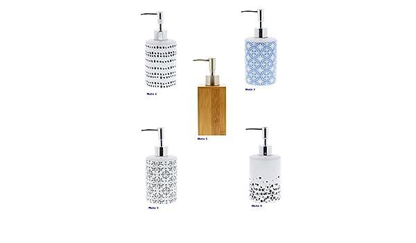 Distributeur de savon Badserie Bambou Acier Inoxydable Céramique WC-Série savon distributeur NOUVEAU