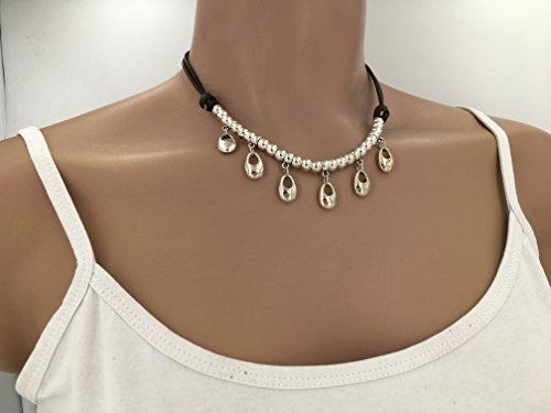 collar zamak, uno de 50 necklace, collar boho, boho neclacke, collar cuero y zamak