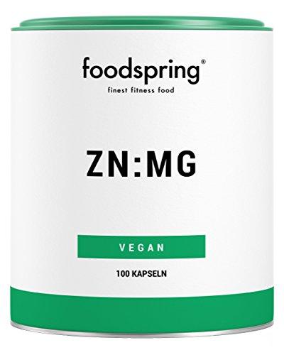 foodspring ZN:MG Kapseln, 100 Stück, Zink Magnesium Supplement für deine Bestleistung, Hergestellt in Deutschland mit sorgfältig ausgewählten Rohstoffen