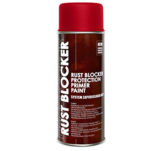3 Stück 400 ml Rust Blocker 4in1 Metallschutzlack Rost Stop Lack rot matt RAL 3000 18300