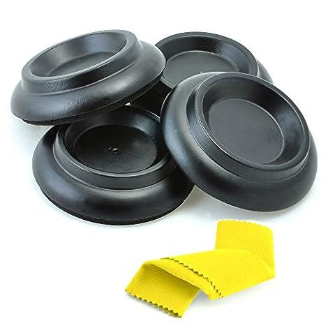 Moozikpro [4pcs] Piano Caster Tasses–Premium en bois de hêtre–antidérapant et anti-bruit Rembourrage en mousse