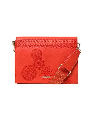 Desigual - Bag Dark Amber Imperia Women, Bolsos bandolera Mujer, Rojo (Carmin), 10x16x23 cm (B x H...
