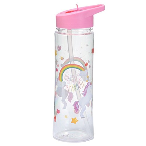 Puckator Enchanted Rainbow Botella Unicornios, Rosa