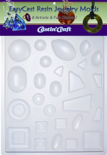 Environmental Technology Castin' Craft EasyCast Resin Jewelry Mold , 8 Artistic Shapes On One Tray by Environmental Technology