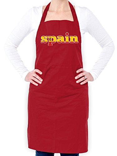 Dressdown WM 2018 - Spanien - Unisex Schürzen Passend Für Erwachsene - Rot - Eine Größe (Spanien-schürze)