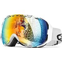 e8500dbf7 Audew Maschere Sci Snowboard Occhiali Ski, Super-Grandangolo Lente Sferica  a Doppia Strato,