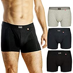 DANISH ENDURANCE Boxer Homme (Noir - Lot de 3, XX-Large)