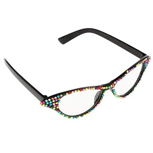 ty Cat Eye Sonnenbrille Lustige Strass Brille Kostüm Foto Prop ()
